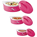 Milton Marvel Insulated Steel Casseroles, Junior Gift Set, 3 Pieces, Pink