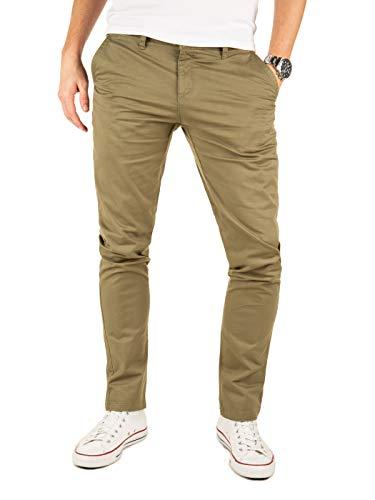 Yazubi Chino Hosen für Herren Kyle by Yzb Jeans Slim fit Business Vintage Khaki Olive Chinohose Casual Stretch, Grün (Dusky Green 4R170517), W34/L30 (Hose Khaki Herren)