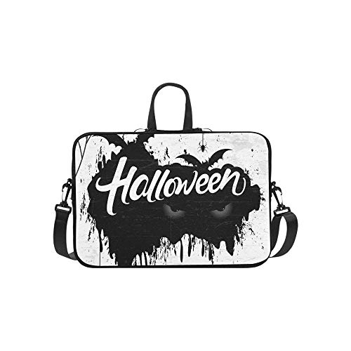 Scary Retro Happy Halloween stilvolle Aktentasche Laptoptasche Messenger Schulter Arbeitstasche Crossbody Handtasche für Geschäftsreisen