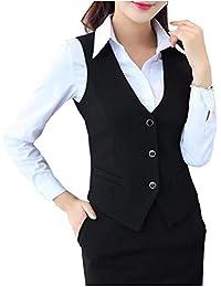 CYSTYLE 2019 Damen Weste Anzug Weste MODERN Kellnerweste Slim fit mit 2 Tasche