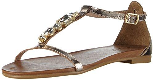 Inuovo - 6200, Scarpe col tacco con cinturino a T Donna Oro (Gold (GOLD))