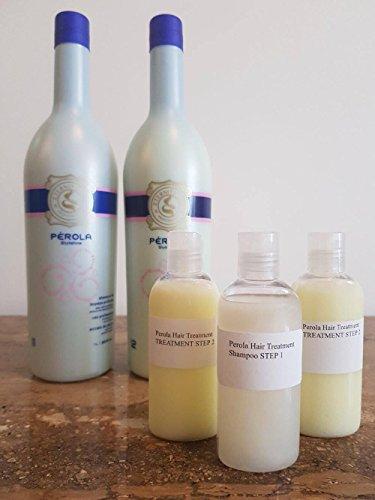 TRATTAMENTO BRASILIANO CON FON DI CHERATINA PEROLA MULTI TAGLIE (3 X 100ML Shampoo e Keratin)