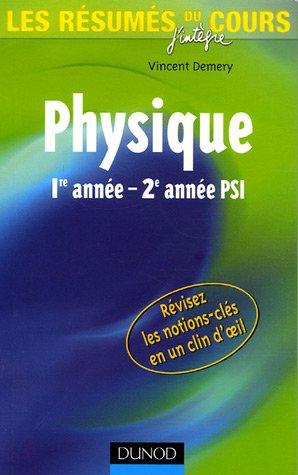 Les résumés du cours de physique 1re - 2e année PSI