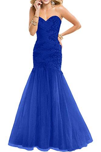 Royaldress Dunkel Gruen Spitze Applikation Herzausschnitt Abendkleider  Etuikleider Promkleider Lang Royal Blau