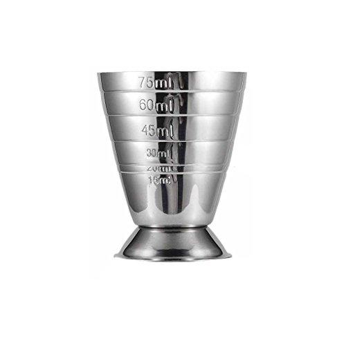 Mess-jigger (LUFA 75 ML Edelstahl Skala Mess Jigger Cocktail Wein Trinken Shaker Pub Bar Tasse Tumblerful Stoup)