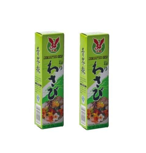 Pamai Pai® Doppelpack: 2 x 43g Tuben Wasabi Paste scharf für Sushi grüner Meerrettich Wasabipaste