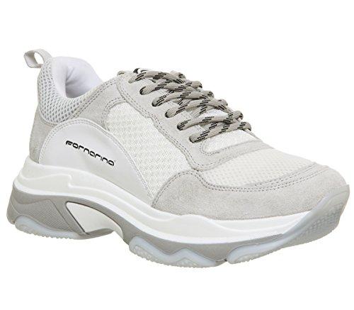 Fornarina womens white super 4 chunky trainers-uk 5 f8d61bf24b5