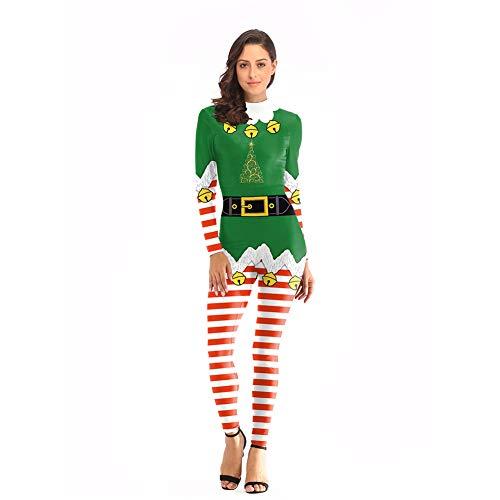 WANXX Hombres Mujeres Disfraces De Navidad Mono Estampado