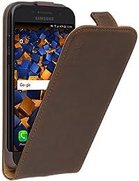 mumbi PREMIUM Leder Flip Case für Samsung Galaxy A3 (2017) Tasche braun