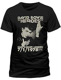 David Bowie Official Pour Hommes Femmes T-shirt Haut Héros Comtes Cour 78