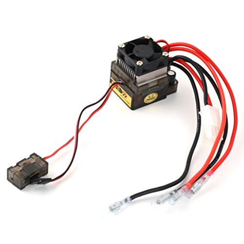 Foxnovo 7.2-16V Hochspannung Version 320A gebürstet ESC bidirektionale elektronische Drehzahlregler mit Bremse / Lüfter für RC-Car-/Boat