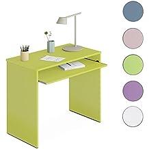 Due-home Habitdesign 002314V - Mesa de ordenador con bandeja extraible, color Verde,