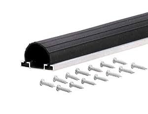 Md produits 9 Black Universal Aluminum & Rubber Garage Bas de porte 87643