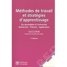 Méthodes de travail et Stratégies d'apprentissage