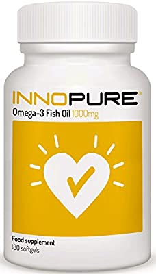 Omega 3 Fish Oil, Half Price Introductory Offer   2000mg per Daily Dose Providing EPA & DHA, 180 Softgels   Innnopure by Innopure