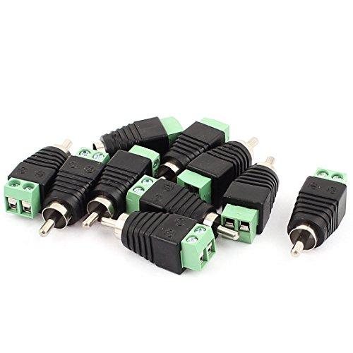 r Lautsprecher-RCA-Kabel auf AV Cinch-Stecker, 10 Stück ()