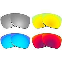 Combo de 4 pares de lentes Revant polarizados, de reemplazo, para Ray Ban Justin 54mm RB4165 K020