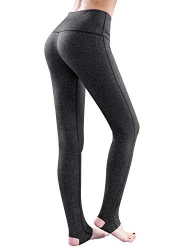Le World Frauen Yoga Hosen hohe Taillen Strumpfhosen, Schritt Fuß elastische enge Hosen Herbst & Winter verdicken Shaping Hip Dance Training Fitness Hosen schlanke Damen Laufhose Capri Leggings