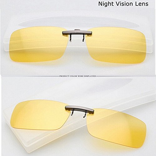 MaMaison007 Polarizzato Clip su occhiali da sole sole occhiali Guida notte lente visione per plastica telaio occhiali - visione