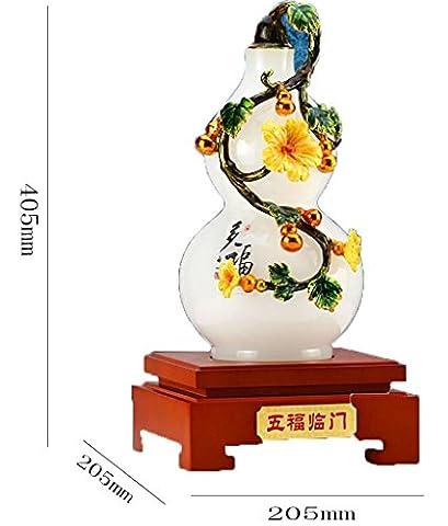 Artisanat Verre vase Décoration Créatif Acajou gourde Accueil salon décoration Bureau accessoires Ouvert Culture Collection Processus cadeau paquet Entreprise Cadeau