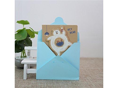 (kelaina Dedicated 1PC Tier Grußkarte Nachricht Karte Einladung Karte Geschenk Karte mit Umschlag (Bär))