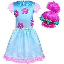 BT WILLING Disfraz de princesa para Halloween, disfraz con peluca