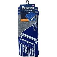 Doctor Who Tardis Herren-Socken, Gr. 40-45, Blau/Grau preisvergleich bei billige-tabletten.eu