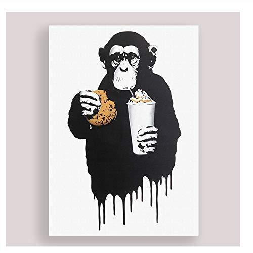 Orangutanes Hamburgo Coca Cola Pinturas Arte de la pared Lienzo Imágenes nórdicas Decoración para el hogar Impresiones en HD Cartel creativo del hotel Modular para dormitorio-50x70cm Sin marco
