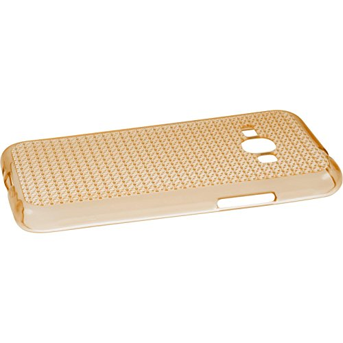 PhoneNatic Case für Samsung Galaxy J1 (2016) J120 Hülle Silikon clear Iced Cover Galaxy J1 (2016) J120 Tasche Case Gold