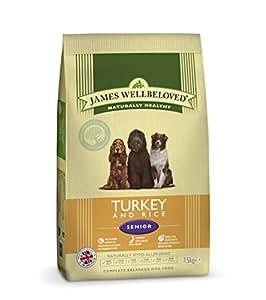James Wellbeloved Dog Food Senior Turkey and Rice Kibble 15kg