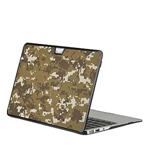 Coque motif camouflage pixel marron pour Macbook Air 13 pouces