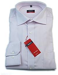 ETERNA Herren Langarm Hemd Modern Fit rosa / weiß strukturiert mit Brusttasche 4275.50.X187