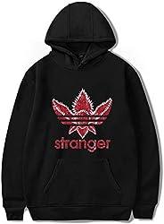 Stranger Things pullover cotton hoodie Hip hop fashion student sweatshirt leisure sport top pink