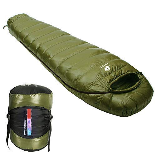 Anyoo Saco Dormir Mummy Goose Down Ultralight Portable