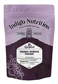Indigo Herbs 250G: Organic Moringa Powder - 250G Certified Organic)