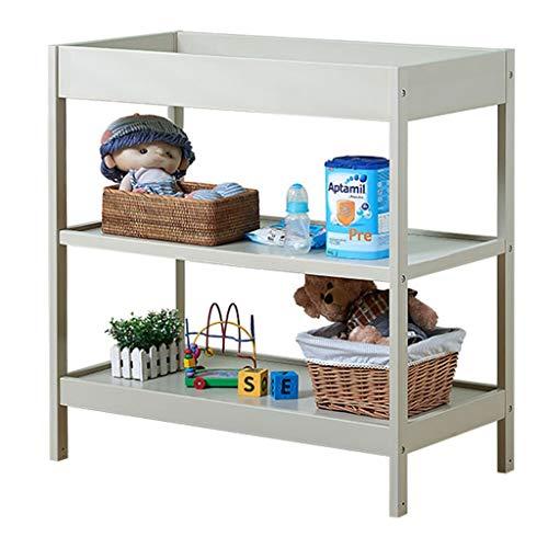 ZQ Wickelaufsatz Weiße Wickeltisch mit Dicker Matte, Kinderzimmer aus Holz Kleinkind Dresser Station Organizer für Baby Kleinkinder