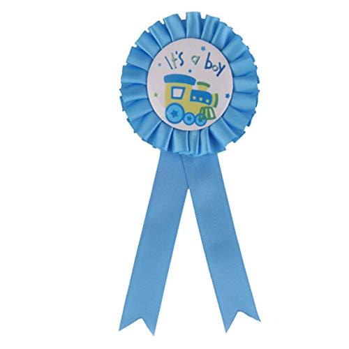 Botreelife Baby Shower Geburtstag Party Award Ribbon Abzeichen junge Mädchen Party Decoratives (Blauer Junge)