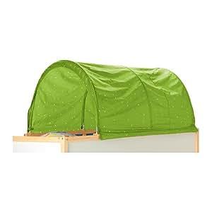 IKEA KURA - tente de lit, vert, blanc