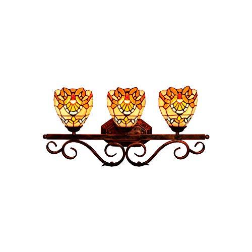 BARBEDINGROSE Lámpara De Pared De Tres Cabezales Vintage, Apliques Creativos Faros De Espejo De Baño...