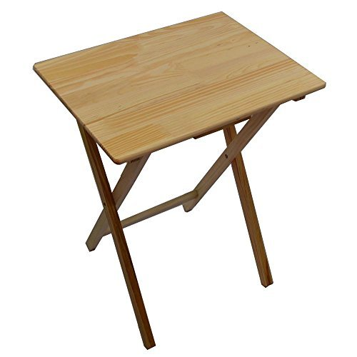 Unibos Rubberwood Folding Wooden TV Table With Wood Pine Finish   Ideal For  T.V. Dinners