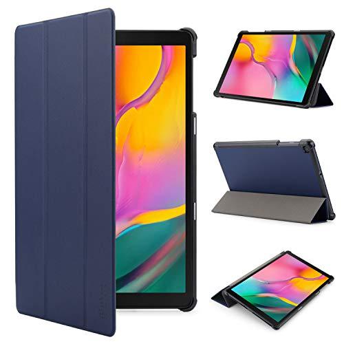 iHarbort Hülle Cover kompatibel mit Samsung Galaxy Tab A 10.1 Zoll (2019 veröffentlicht SM-T510 / T515) - Ultra dünn Etui Schutzhülle Case Holder Stand (Dunkelblau)