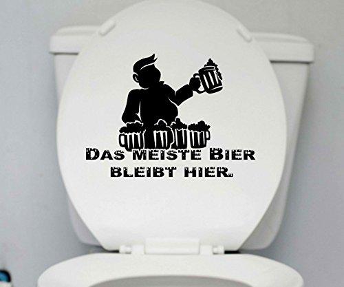 WC Deckel Aufkleber Bier Toiletten Männer Spruch Badezimmer Bad Klo Wand 1K179