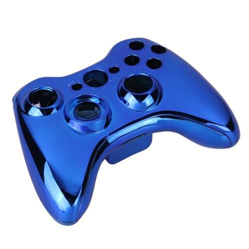 Blau Chrom Full Gehäuse Shell Schutzhülle für Xbox 360Wireless Controller (360-controller Und Xbox Shell)