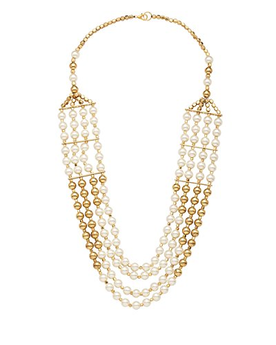 Arittra White Metal Choker Necklace For Women