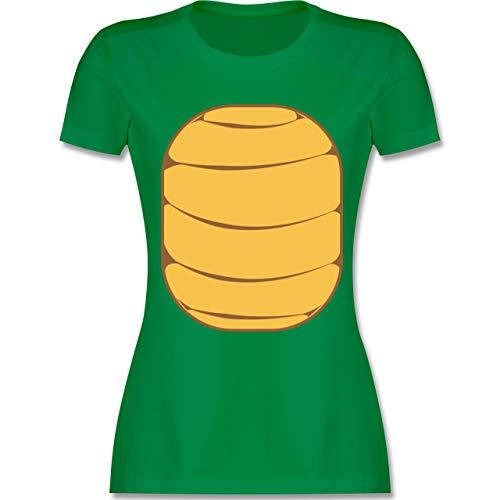 Karneval & Fasching - Schildkröten Kostüm - L - Grün - L191 - Damen Tshirt und Frauen T-Shirt