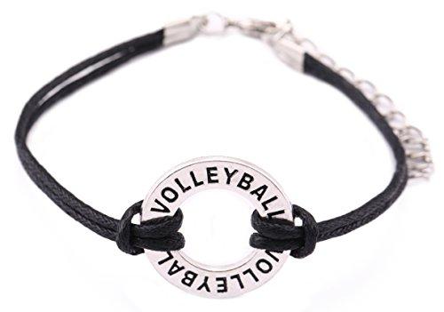 Verstellbare Wachs Kordel Armband Volleyball Charm Schmuck für Frau/Mann ()