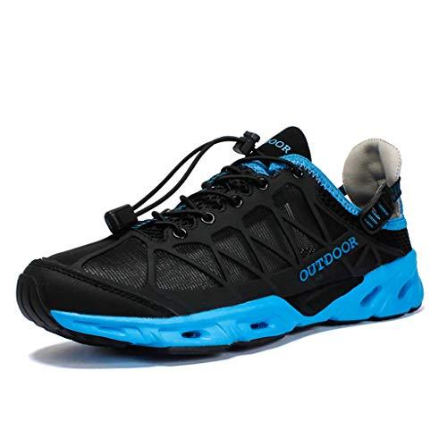 Beach Womens Schuhe (LXJL Barfuß Wasserschuhe Mens Womens Sportschuhe Schwimmen Schuhe für die Beach-Boot-Fishing Yoga Tauchen mit Quick Dry Drainage Driving,c,44)
