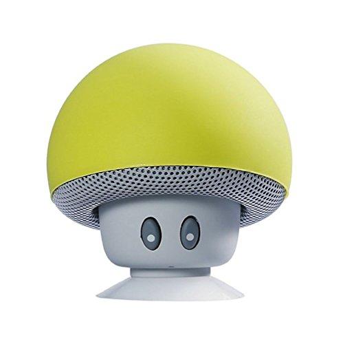 Demarkt Tragbarer Drahtloser Mini Bluetooth Lautsprecher Speaker Mobiler Tragbarer Bluetooth Lautsprecher für iPhone Samsung Laptop Handys mit Bluetooth Funktion Pilz Saugnapf Freisprechfunktion