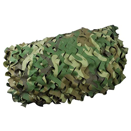 ACZZ Tarpaulin Camouflage Net Jagd UV-beständige Schatten für Camping Jagd, Motto Party Dekoration Camo Net,5 M × 6 M