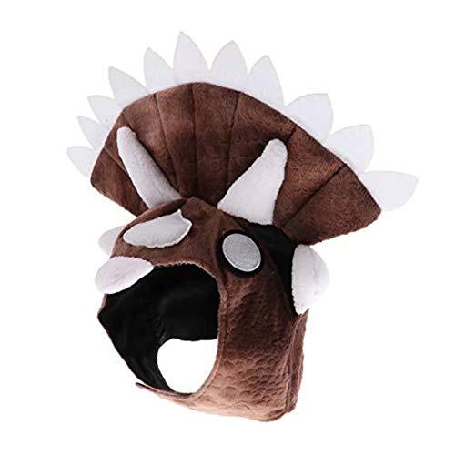 Kostüm Katze Triceratops - Kostüm Haustier Triceratops Hund Dinosaurier Hut Haustier Katze Hund Hut Kopfbedeckung Kostüm Halsumfang 30-42cm Bekleidung